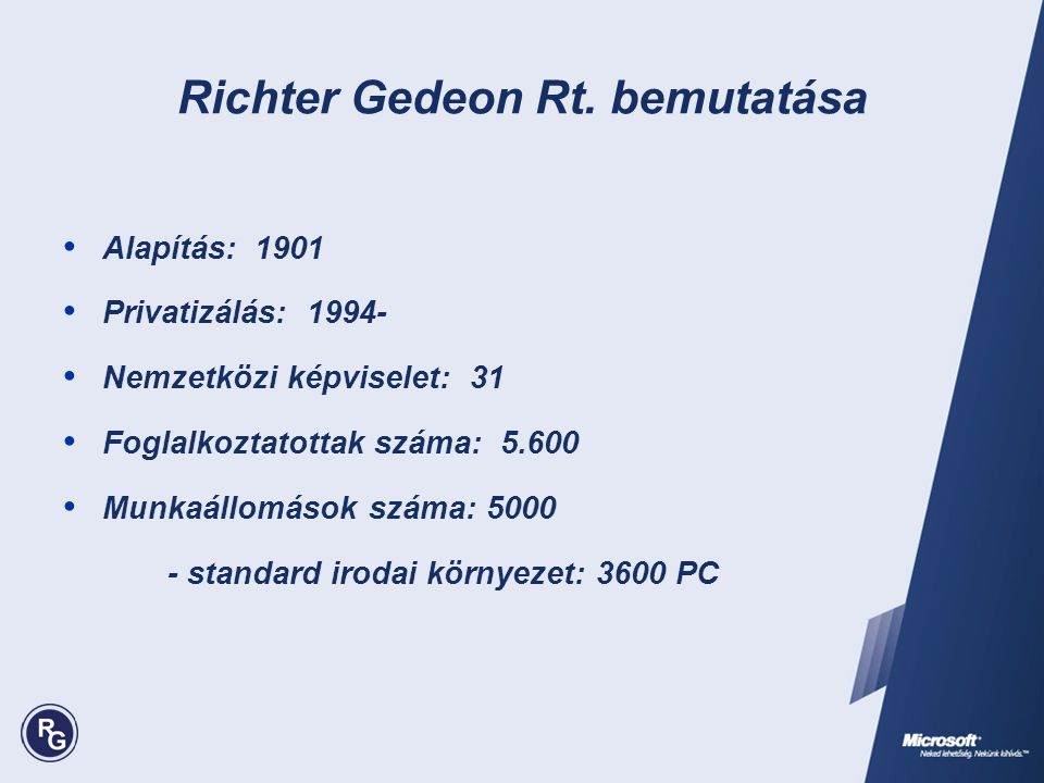 Richter Gedeon Rt. bemutatása