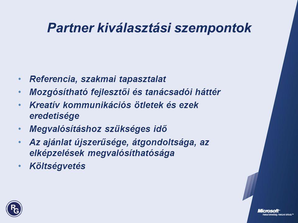 Partner kiválasztási szempontok