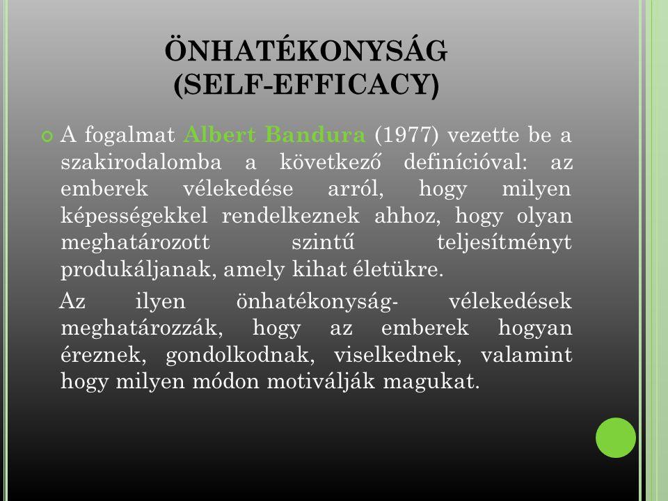 ÖNHATÉKONYSÁG (SELF-EFFICACY)