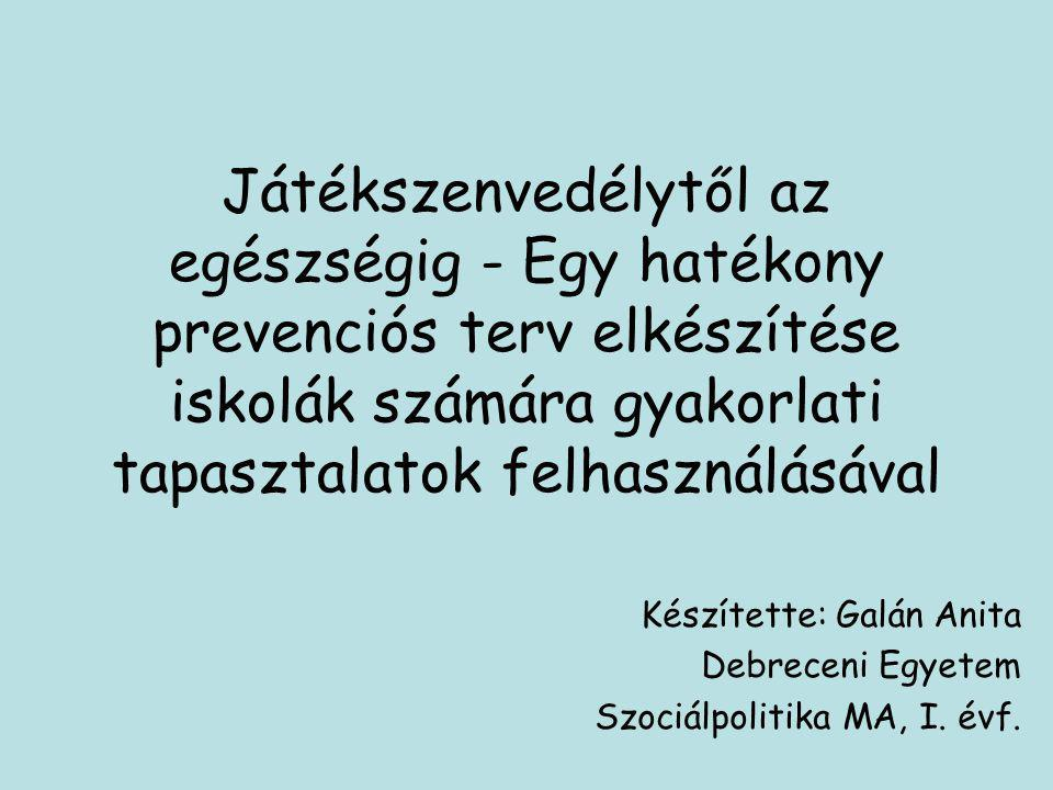 Készítette: Galán Anita Debreceni Egyetem Szociálpolitika MA, I. évf.