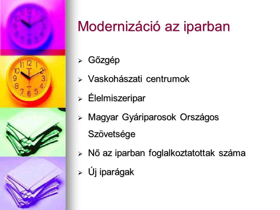 Modernizáció az iparban