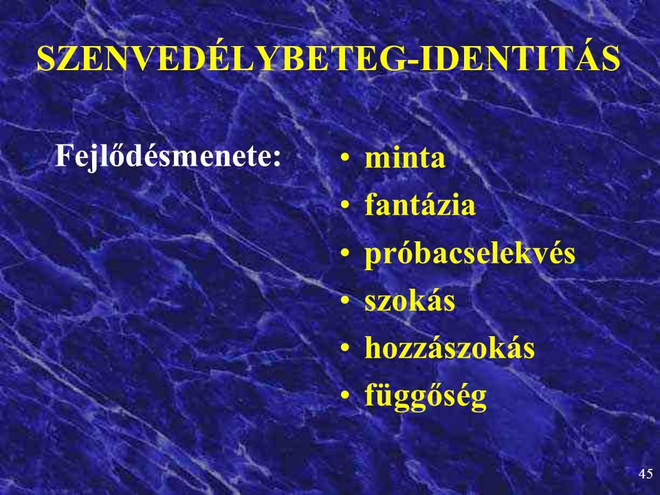 SZENVEDÉLYBETEG-IDENTITÁS