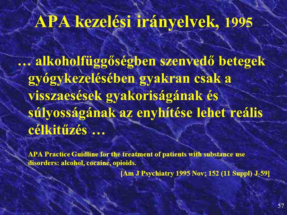 APA kezelési irányelvek, 1995