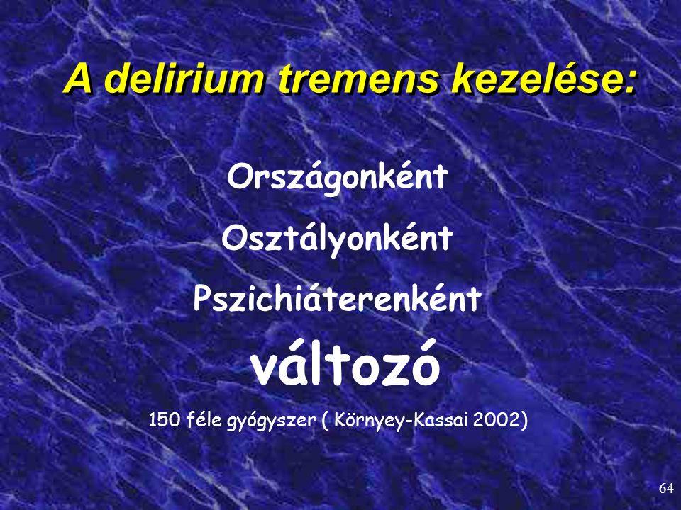 A delirium tremens kezelése: