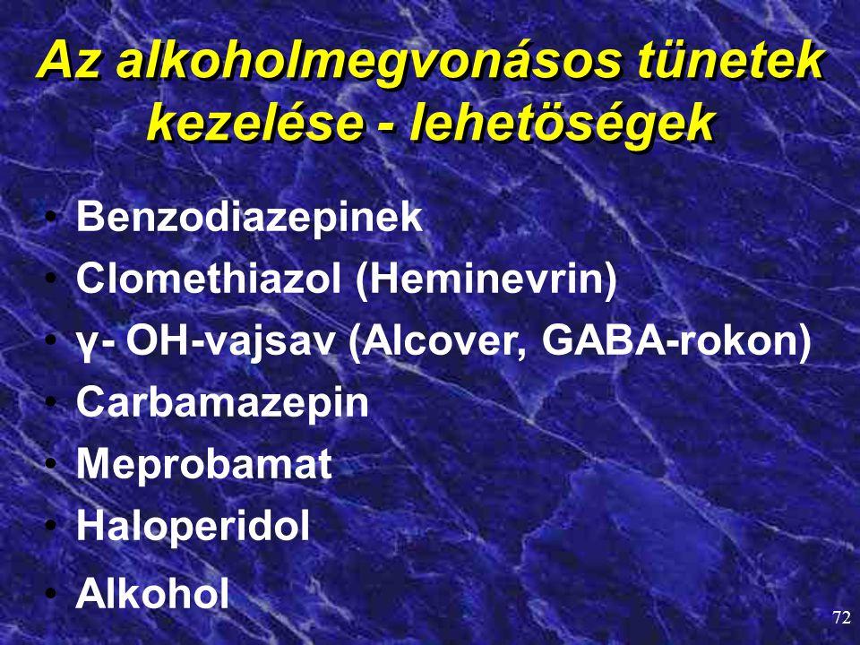 Az alkoholmegvonásos tünetek kezelése - lehetöségek
