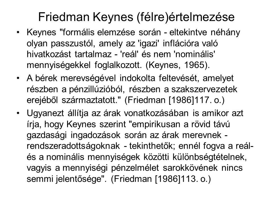 Friedman Keynes (félre)értelmezése