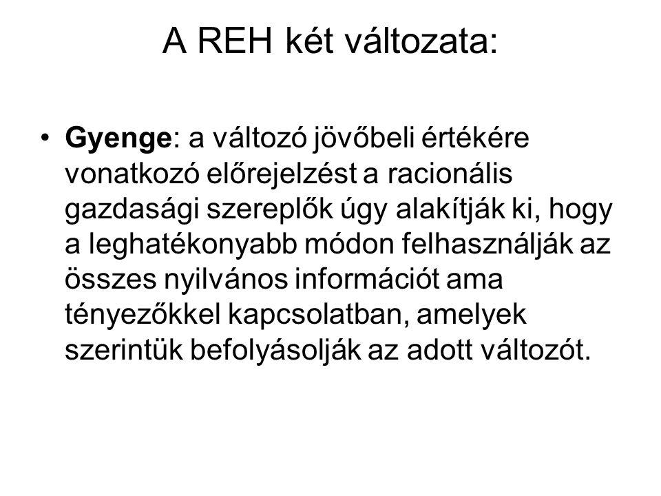 A REH két változata:
