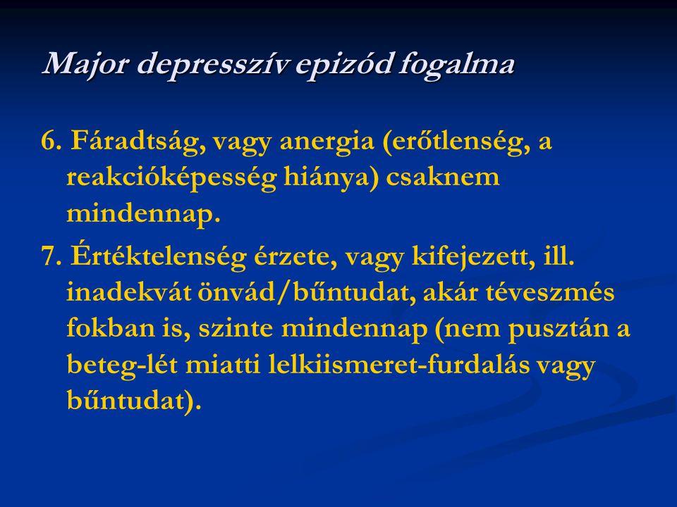 Major depresszív epizód fogalma