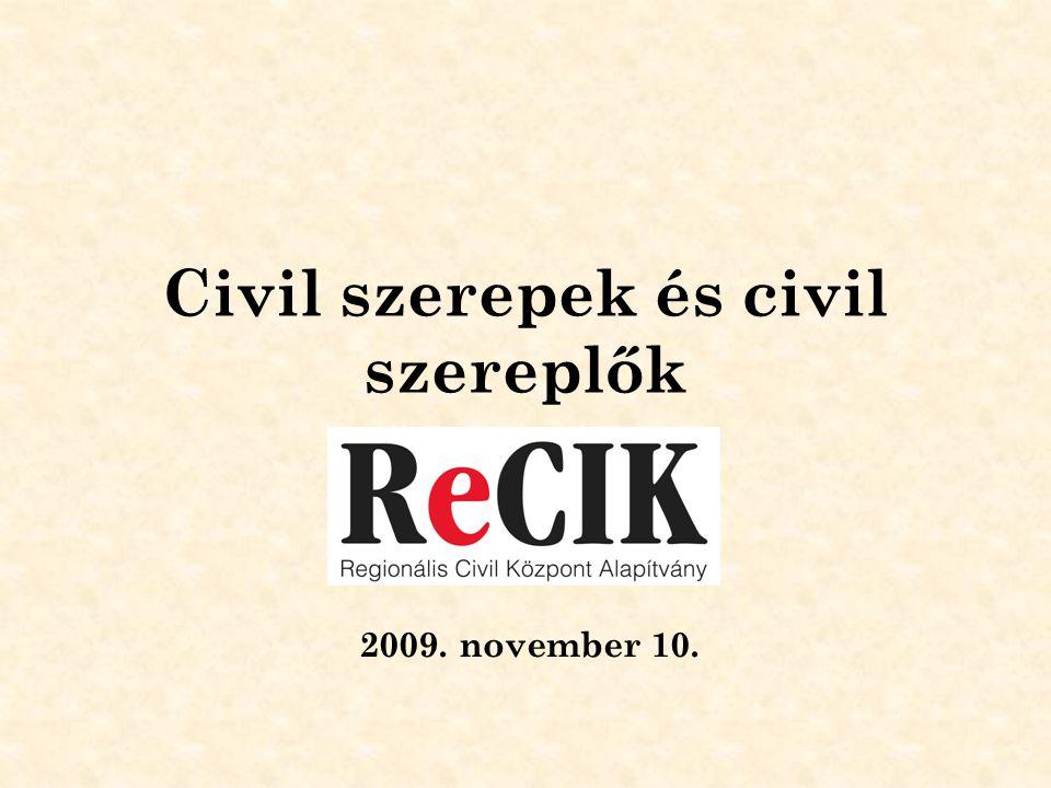 Civil szerepek és civil szereplők