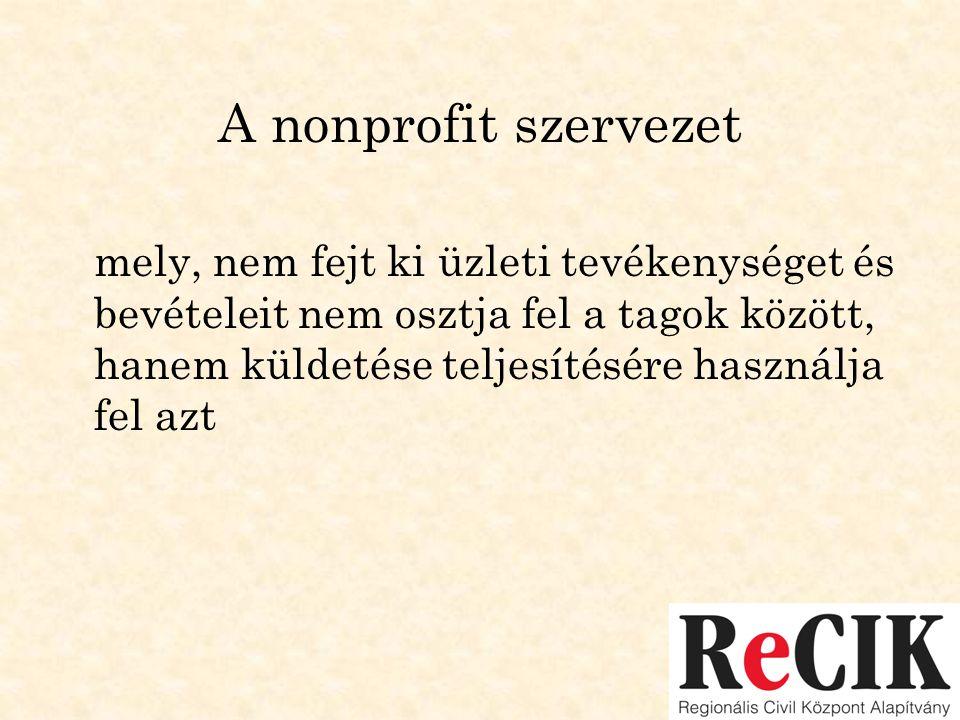 A nonprofit szervezet