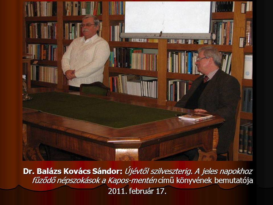 Dr. Balázs Kovács Sándor: Újévtől szilveszterig