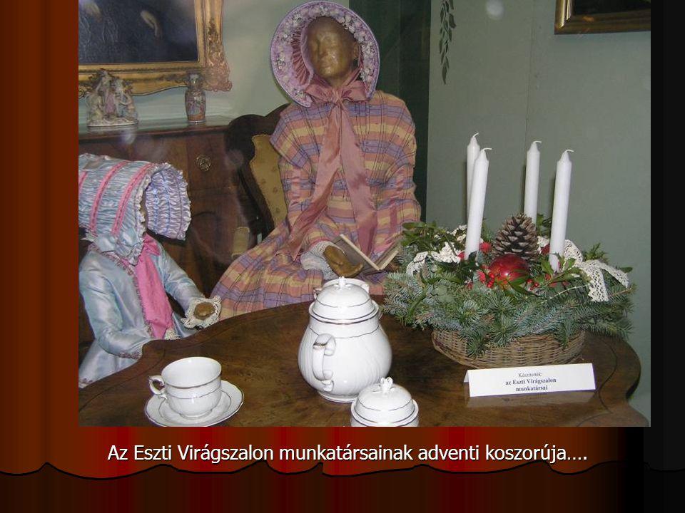 Az Eszti Virágszalon munkatársainak adventi koszorúja….