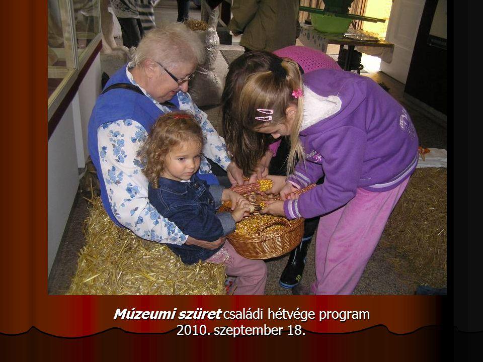 Múzeumi szüret családi hétvége program