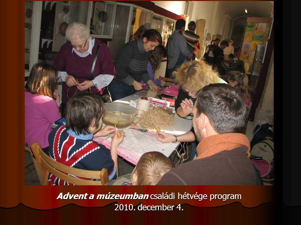 Advent a múzeumban családi hétvége program