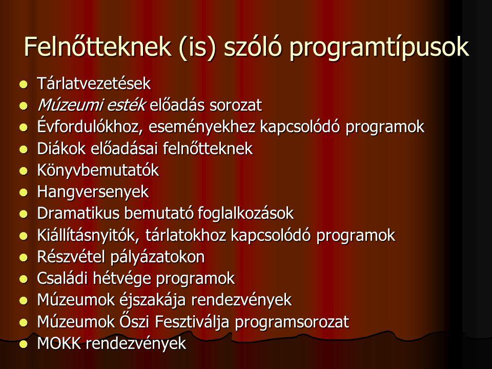 Felnőtteknek (is) szóló programtípusok