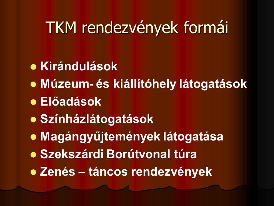 TKM rendezvények formái