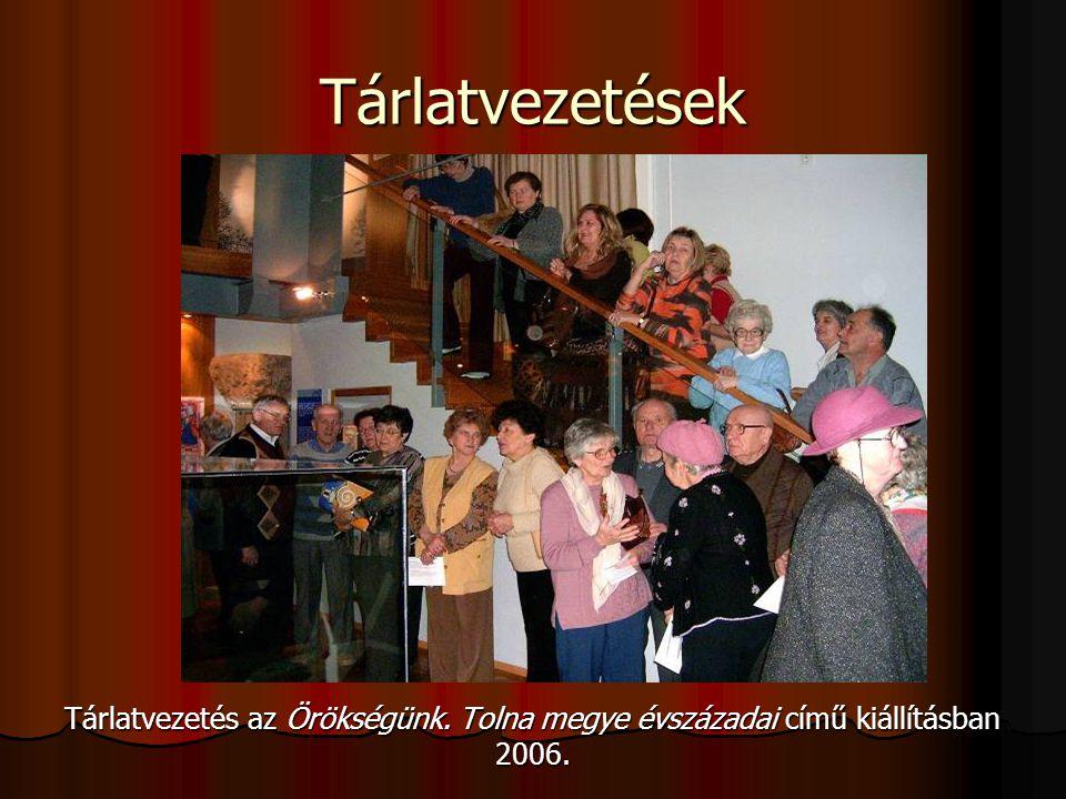 Tárlatvezetés az Örökségünk. Tolna megye évszázadai című kiállításban