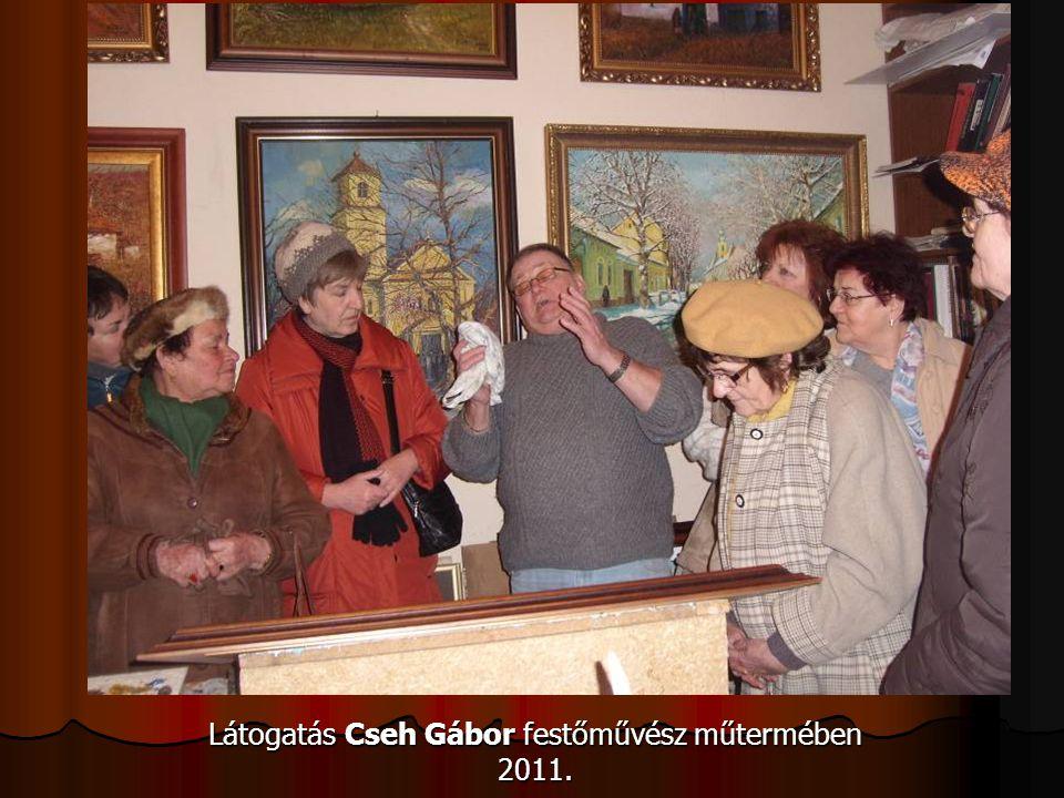 Látogatás Cseh Gábor festőművész műtermében