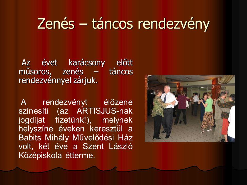 Zenés – táncos rendezvény