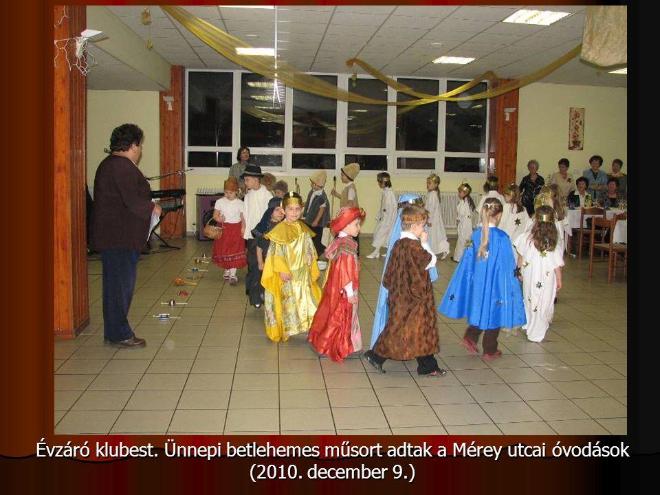 Évzáró klubest. Ünnepi betlehemes műsort adtak a Mérey utcai óvodások