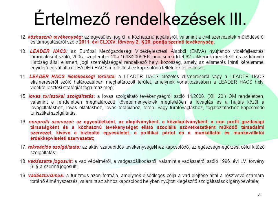 Értelmező rendelkezések III.