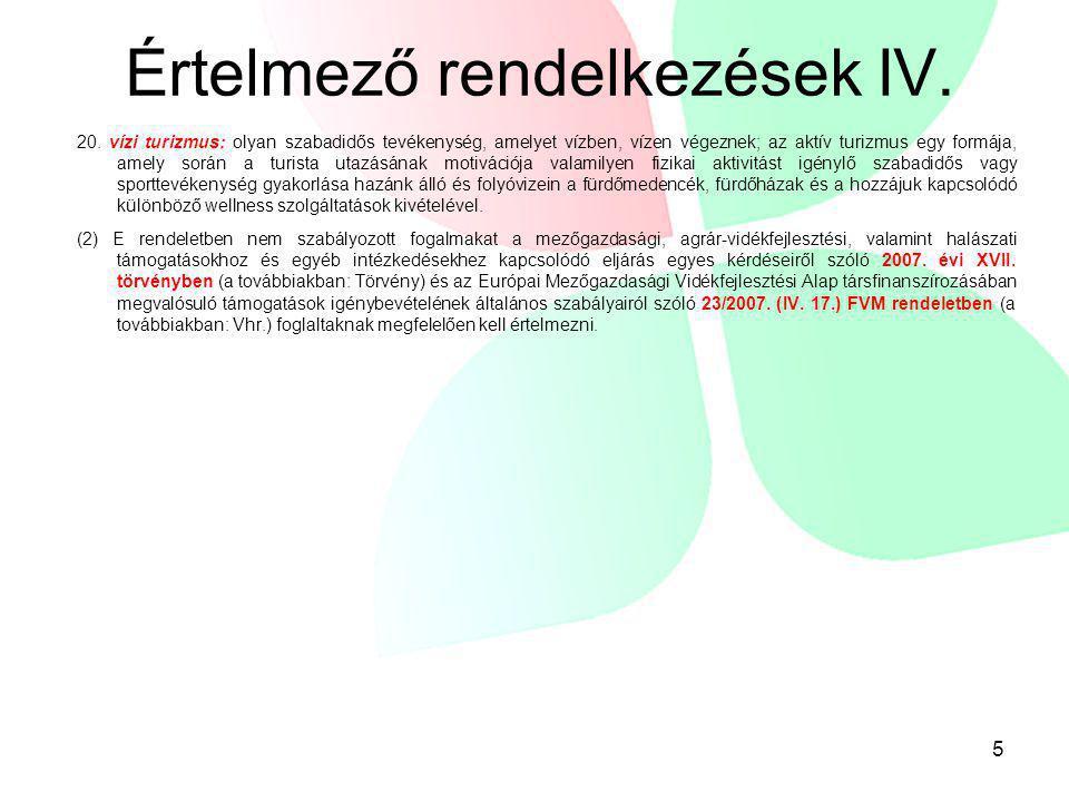 Értelmező rendelkezések IV.