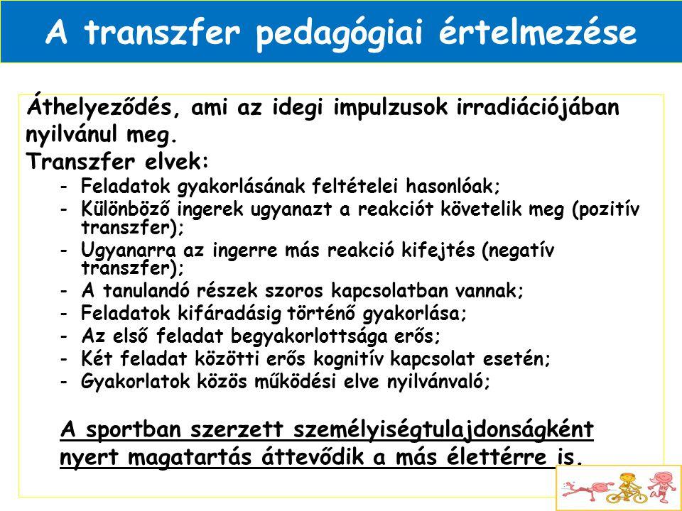 A transzfer pedagógiai értelmezése