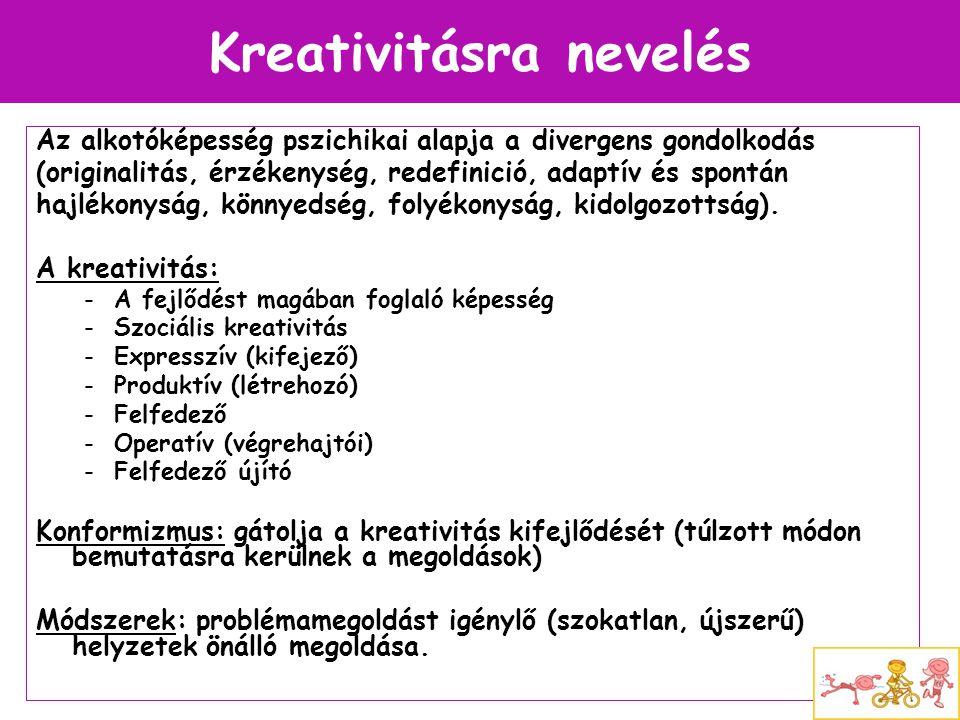 Kreativitásra nevelés