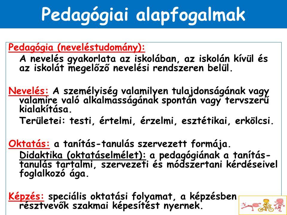 Pedagógiai alapfogalmak
