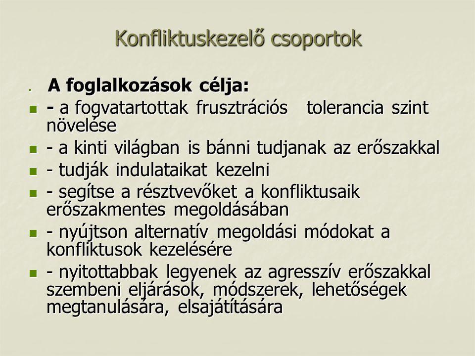 Konfliktuskezelő csoportok
