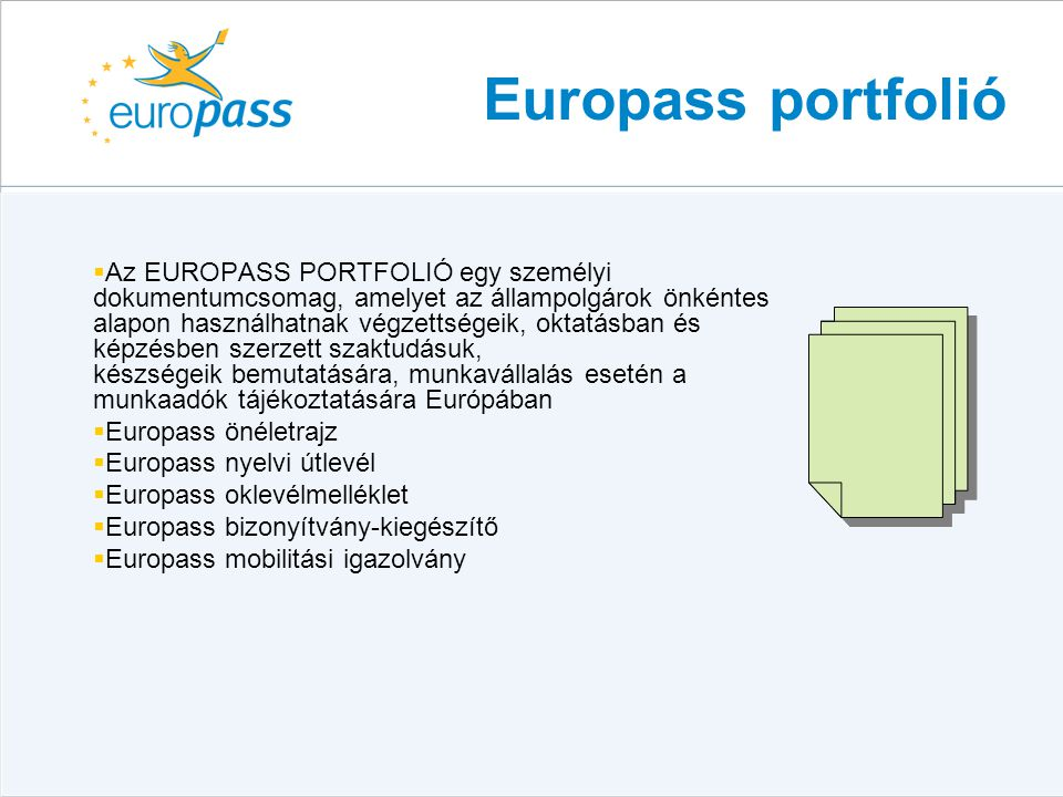 Europass portfolió