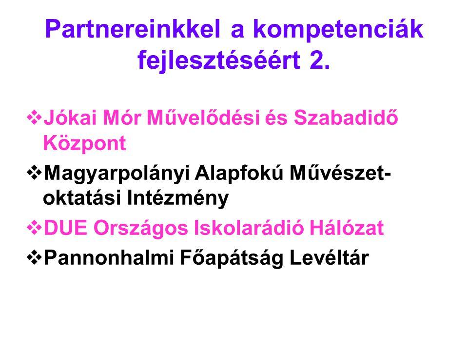 Partnereinkkel a kompetenciák fejlesztéséért 2.