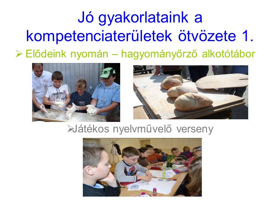 Jó gyakorlataink a kompetenciaterületek ötvözete 1.