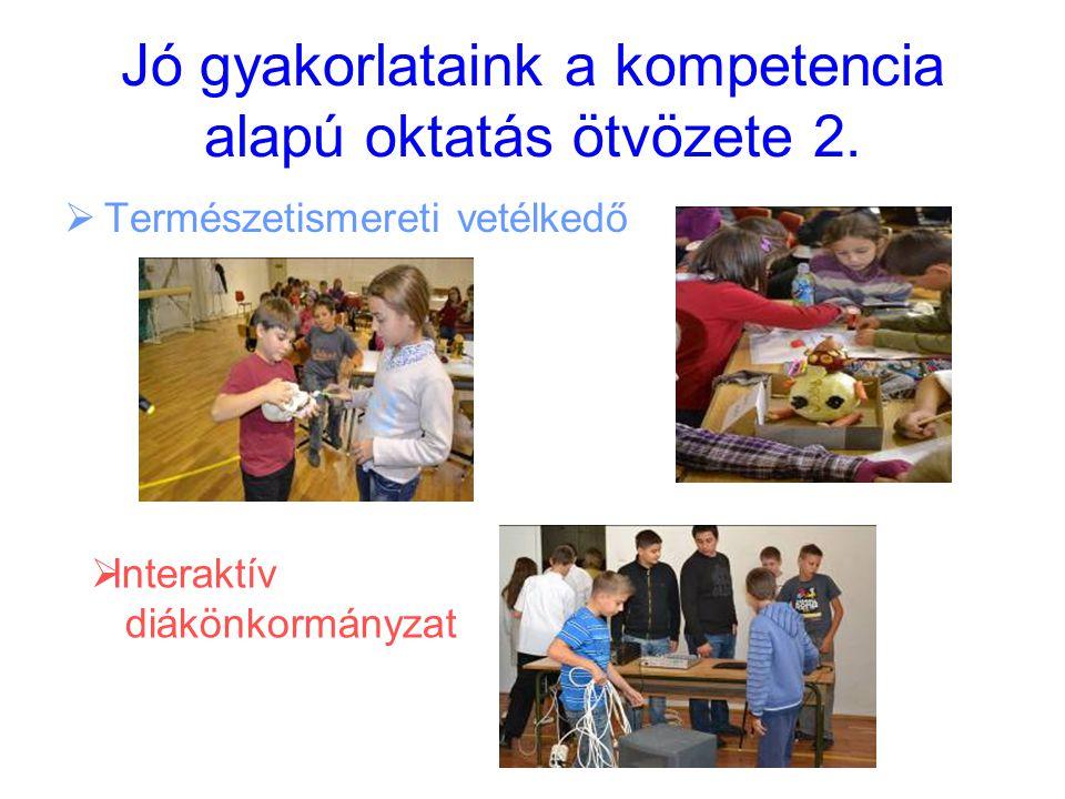Jó gyakorlataink a kompetencia alapú oktatás ötvözete 2.