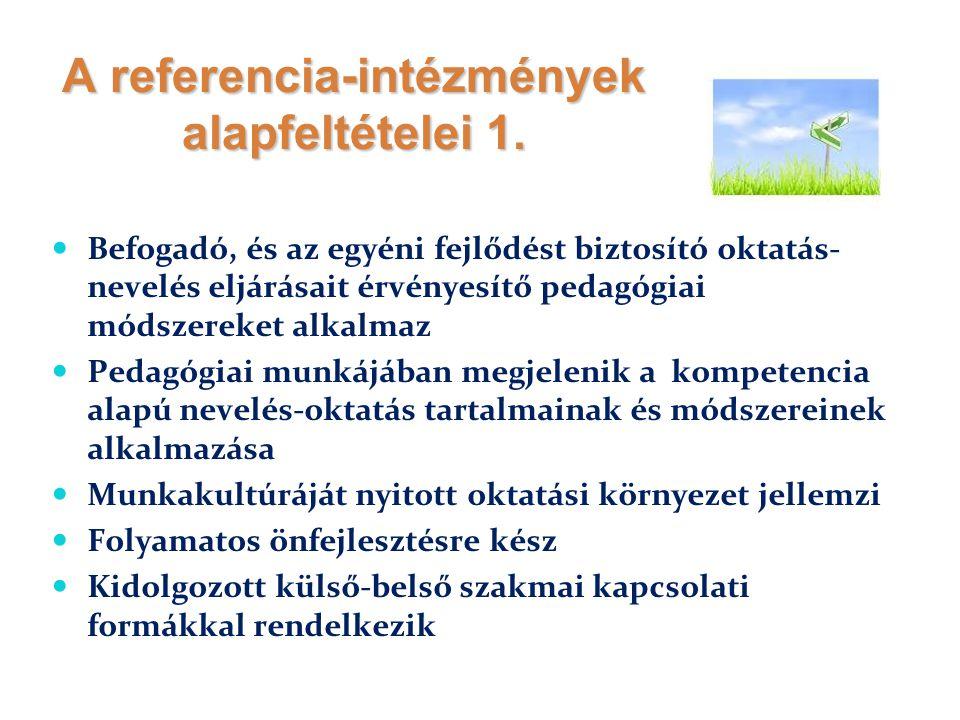 A referencia-intézmények alapfeltételei 1.