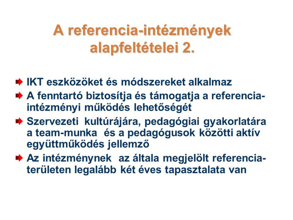 A referencia-intézmények alapfeltételei 2.