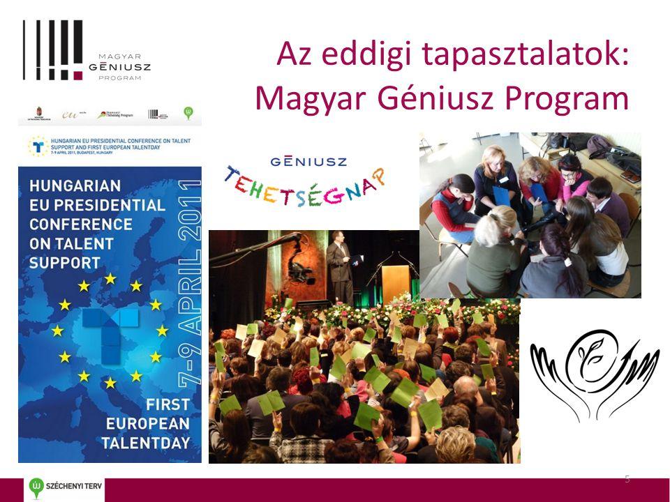 Az eddigi tapasztalatok: Magyar Géniusz Program