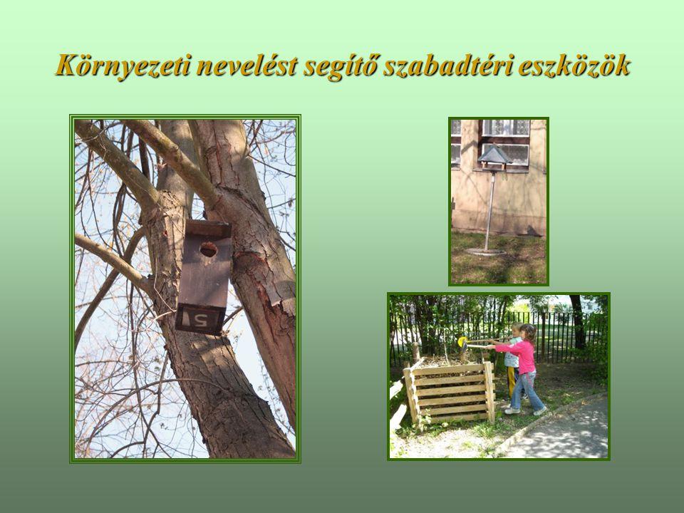 Környezeti nevelést segítő szabadtéri eszközök
