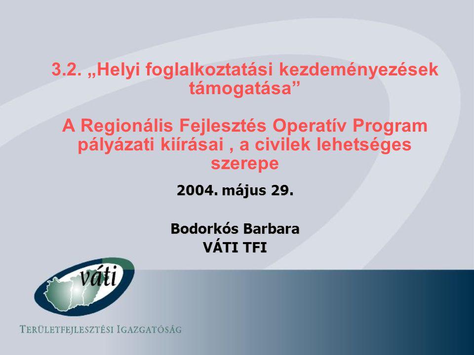 2004. május 29. Bodorkós Barbara VÁTI TFI