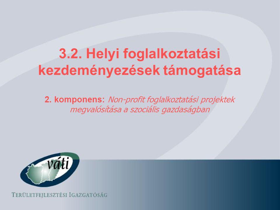 3.2. Helyi foglalkoztatási kezdeményezések támogatása
