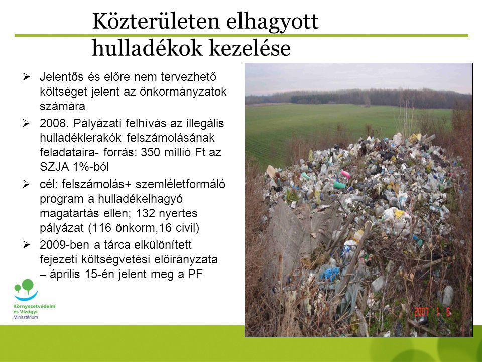 Közterületen elhagyott hulladékok kezelése