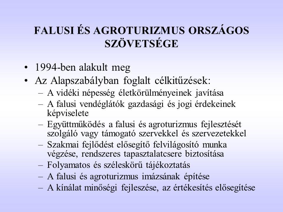 FALUSI ÉS AGROTURIZMUS ORSZÁGOS SZÖVETSÉGE
