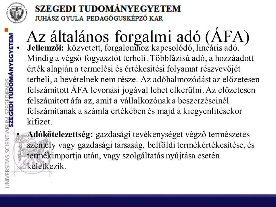 Az általános forgalmi adó (ÁFA)