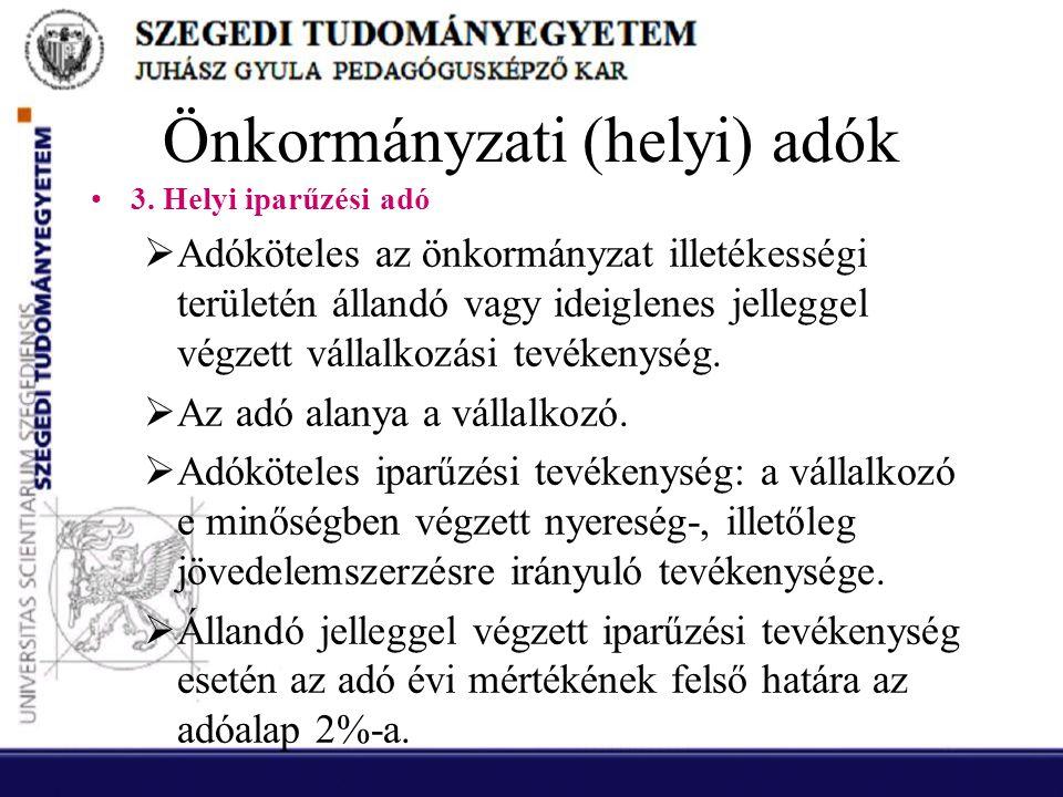 Önkormányzati (helyi) adók