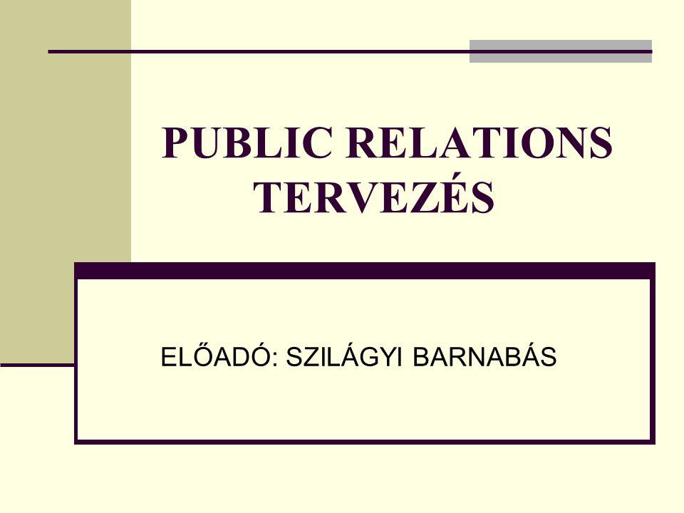 PUBLIC RELATIONS TERVEZÉS