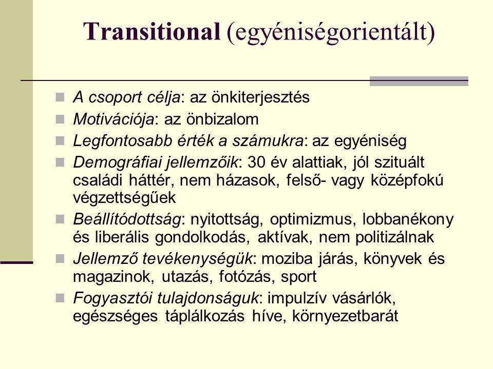 Transitional (egyéniségorientált)