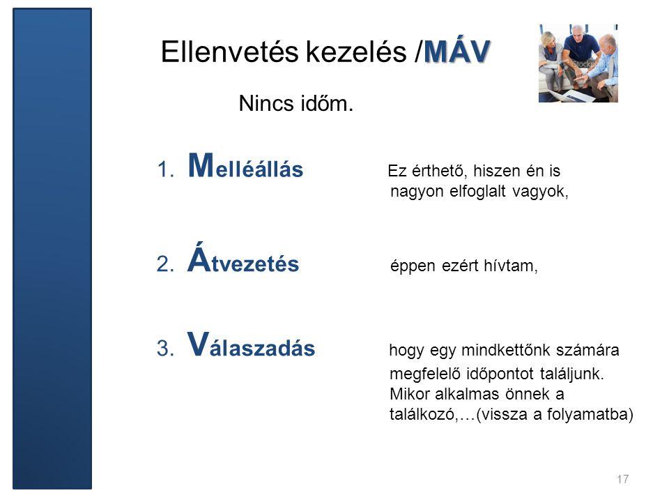 Ellenvetés kezelés /MÁV