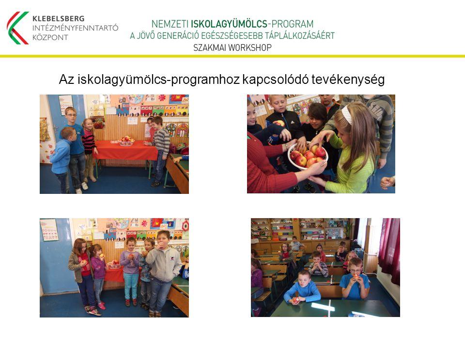 Az iskolagyümölcs-programhoz kapcsolódó tevékenység