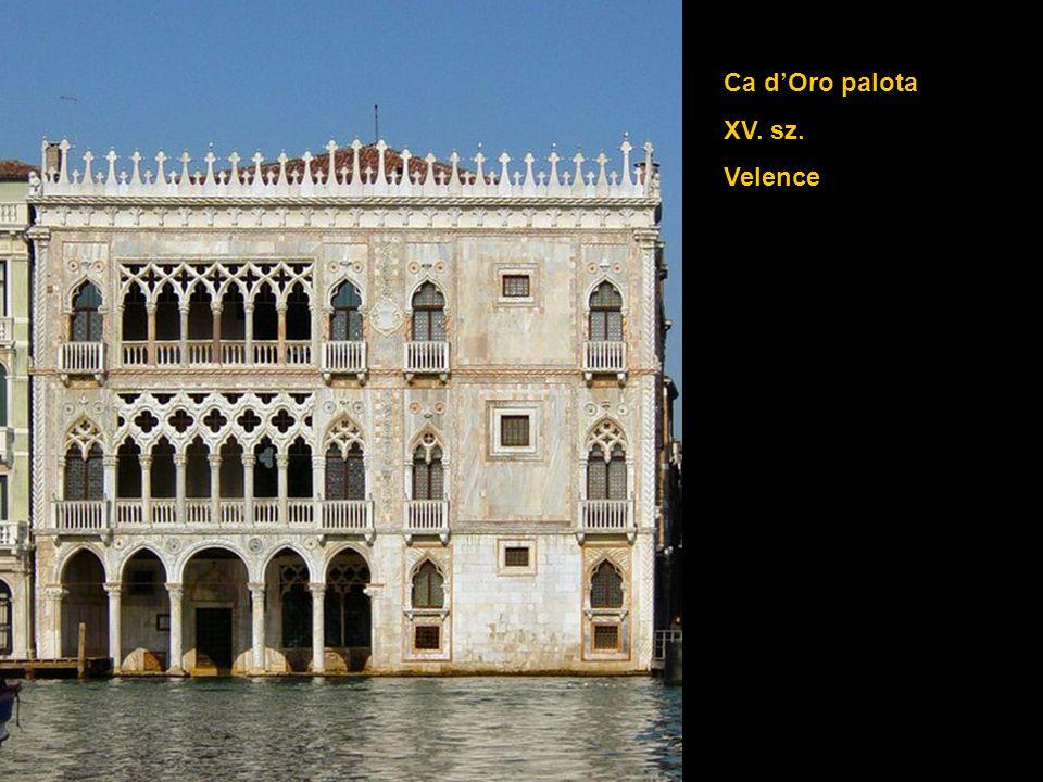 Ca d'Oro palota XV. sz. Velence