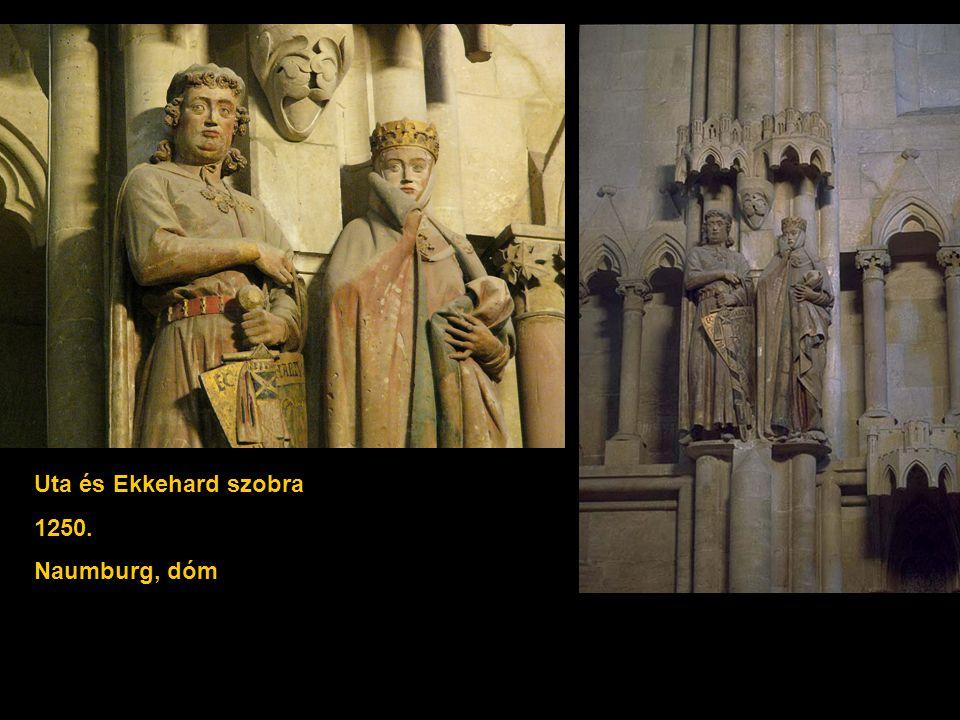 Uta és Ekkehard szobra 1250. Naumburg, dóm